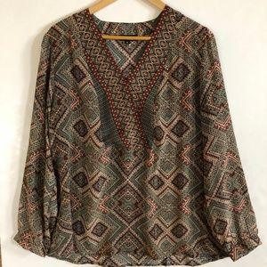 Tolani Anthropologie Silkl Blouse XL